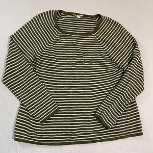 Eileen Fisher Linen Blend Striped Shirt Petite L